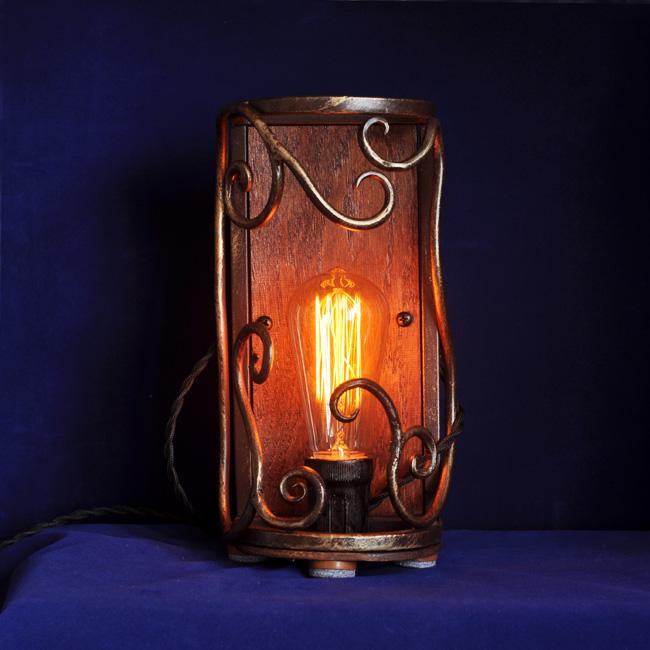 Светильник кованый в стиле лофт